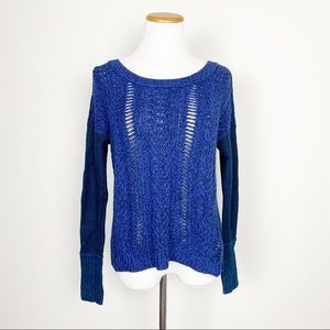 American Eagle Blue Chunky Knit Sweater